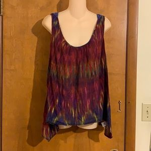 SUPER CUTE cool and funky purple tank Large